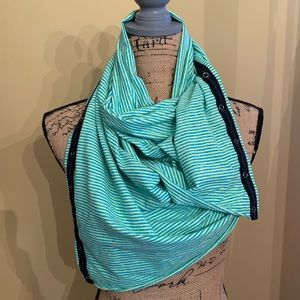 Ivivva scarf green and blue stripe
